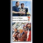 1970 Rose Bowl Michigan vs USC Football Media Guide