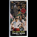 1972 Stanford vs Michigan Rose Bowl 58 Football Media Guide