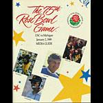 1989 USC vs Michigan Rose Bowl Media Guide