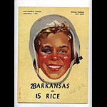 1954 Arkansas vs Rice College Football Program