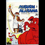 1965 Auburn vs Alabama Iron Bowl College Football Program