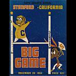 1954 Stanford vs Cal Big Game College Football Program