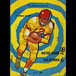 1959 Notre Dame vs Cal College Football Program