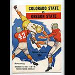 1962 Colorado State vs Oregon State College Football Program