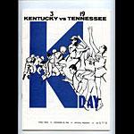 1965 Kentucky vs Tennessee College Football Program