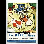 1952 Texas vs Rice College Football Program
