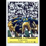1968 Cal vs Syracuse College Football Program