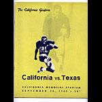 1969 Cal vs Texas College Football Program