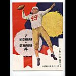 1952 Michigan vs Stanford College Football Program