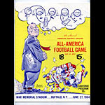 1964 All-America Game Program College Football Program