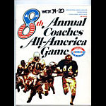 1968 All-America Game Program College Football Program