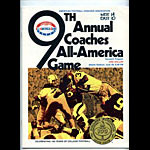 1969 All-America Game Program College Football Program