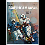 1970 American Bowl College Football Program