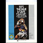 1975 Blue and Gray Classic College Football Program