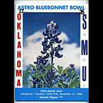 1968 Oklahoma vs SMU Bluebonnet  Bowl 10 College Football Program