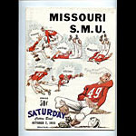 1955 Missouri vs. S.M.U. Cotton Bowl College Football Program