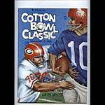 1966 Georgia vs SMU Cotton Bowl College Football Program