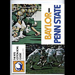 1975 Baylor vs Penn State Cotton Bowl College Football Program