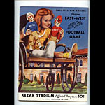 1950 East-West All Star Program College Football Program
