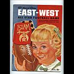 1952 East-West All Star Program College Football Program