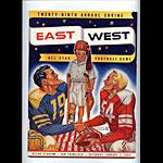 1954 East-West All Star  Program College Football Program