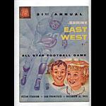 1955 East-West All Star  Program College Football Program