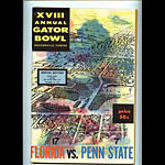 1962 Florida vs Penn State Gator Bowl College Football Program