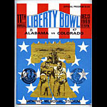 1969 Alabama vs Colorado Liberty Bowl 11 College Football Program