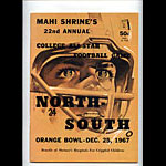 1967 North-South College All-Star  Program College Football Program