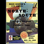 1969 North-South College All-Star  Program College Football Program