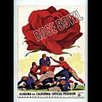 1938 Alabama vs Cal Rose Bowl College Football Program