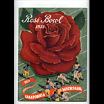 1951 Cal vs Michigan Rose Bowl College Football Program