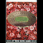 1965 Michigan vs Oregon Rose Bowl College Football Program
