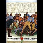 1969 Ohio vs USC Rose Bowl College Football Program