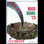 1973 Rose Bowl Program USC vs Ohio State College Football Program
