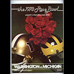 1978 Washington vs Michigan Rose Bowl College Football Program