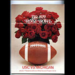 1979 USC vs Michigan Rose Bowl College Football Program