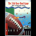 1988 USC vs Michigan State Rose Bowl College Football Program