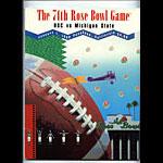 1988 USC vs Michigan State Rose Bowl College Football Program