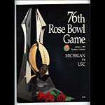 1990 Michigan vs USC Rose Bowl College Football Program