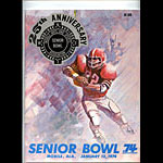 1974 Senior Bowl College Football Program