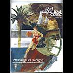 1977 Pittsburgh vs Georgia 43rd Sugar Bowl College Football Program