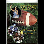 1982-1983 North Carolina vs Texas Sun Bowl College Football Program
