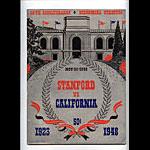 1948 Cal Bears vs Stanford Big Game College Football Program