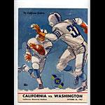 1967 Cal Bears vs Washington College Football Program