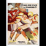 1966 San Jose State vs Stanford College Football Program