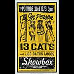 Art Chantry 13 Cats Poster