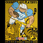Scrojo Chargers AFC Playoffs 50th Anniversary Poster