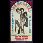 Rare 1969 Monkees Concert Poster
