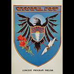Grateful Dead 1983 / 1984 Concert Program